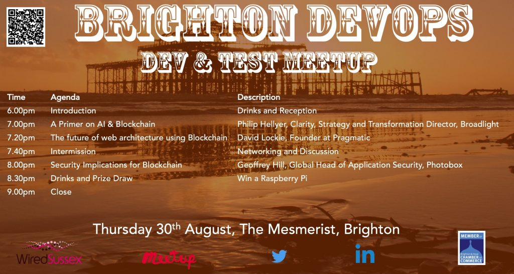 Brighton DevOps, Test and Dev Meet Up - 30th August 2018