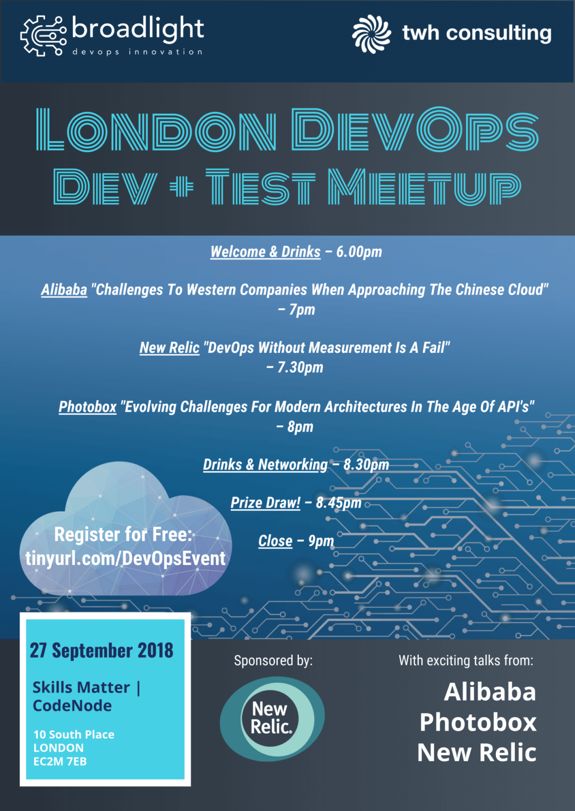 Schedule for London DevOps Dev & Test Meetup
